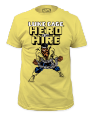 Luke Cage Hero for Hire Adult T-shirt