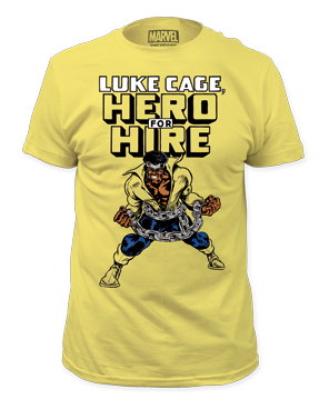 Luke Cage Hero for Hire Short Sleeve Adult T-shirt