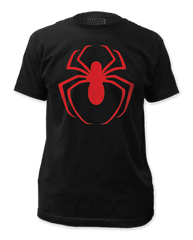 Spiderman Red Logo Adult T-shirt