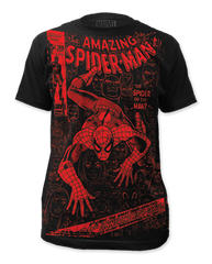 Spiderman Spider or The Man Big Print Adult T-shirt