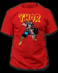 Thor War Hammer Red Short Sleeve Adult T-shirt