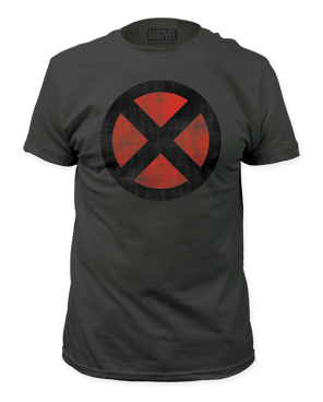 X-men Distressed Logo Short Sleeve Adult T-shirt