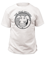 Dead Milkmen Cow Logo White Cotton Short Sleeve Adult T-shirt