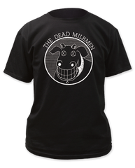 Dead Milkmen Cow Logo Black Cotton Short Sleeve Adult T-shirt