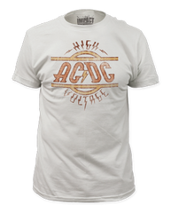 AC/DC High Voltage White Short Sleeve Adult T-shirt