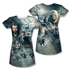 The Hobbit The Battle of the Five Armies Epic Poster Junior Sublimation Front & Back Print T-shirt