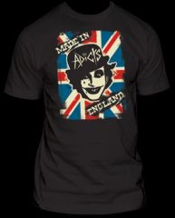 The Adicts Made In England Black Cotton Short Sleeve Adult T-shirt