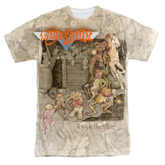 Aerosmith Toys in the Attic Sublimation Print Front Only Adult T-shirt