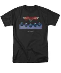 Aerosmith Rocks Black Short Sleeve Adult T-shirt