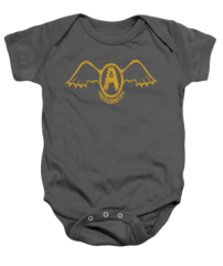 Aerosmith Retro Logo Charcoal Infant Onesie