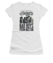 Aerosmith Bad Boys White Short Sleeve Junior T-shirt