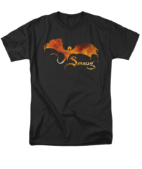 The Hobbit The Battle of the Five Armies Smaug on Fire Adult T-shirt
