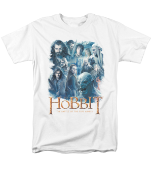 The Hobbit The Battle of the Five Armies Main Characters Adult T-shirt