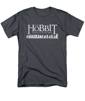 The Hobbit The Battle of the Five Armies Walking Logo Adult T-shirt