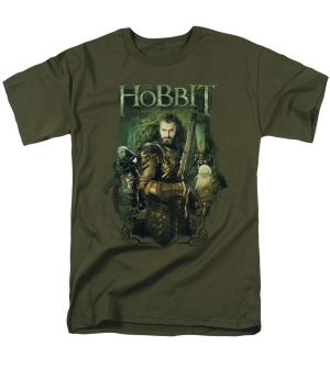The Hobbit The Battle of the Five Armies Thoring and Company Adult T-shirt