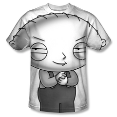 Family Guy Stewie Head Sublimation Front Only Print Youth T-shirt