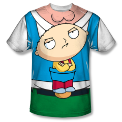Family Guy Stewie Carrier Sublimation Front Only Print Adult T-shirt