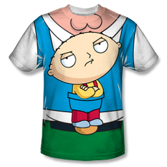 Family Guy Stewie Carrier Sublimation Front Only Print Youth T-shirt