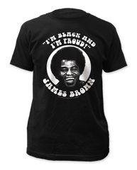 James Brown Black and Poud Adult T-shirt