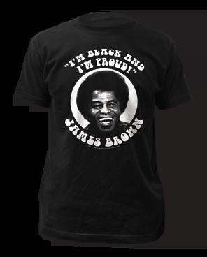 James Brown Black and Proud Black Short Sleeve Adult T-shirt