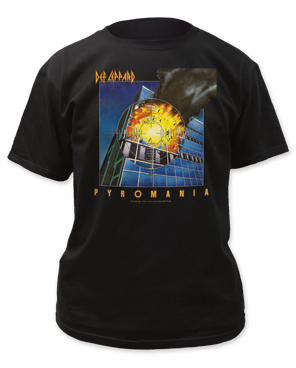 Def Leppard Pyromania Black Cotton Short Sleeve Adult T-shirt