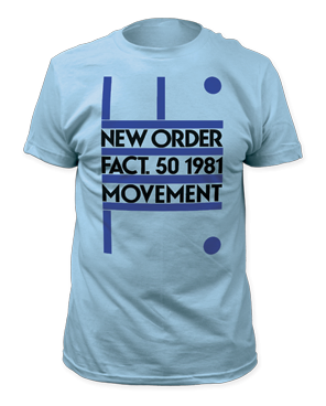 New Order Fact.50 1981 Movement Light Blue Short Sleeve Adult T-shirt