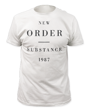 New Order Substance White Short Sleeve Adult T-shirt