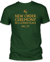 New Order Ceremony Forest Green Short Sleeve Adult T-shirt