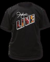 Foghat Live Black Short Sleeve Adult T-shirt
