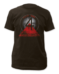 Foreigner 81-82 Tour Black Short Sleeve Adult T-shirt