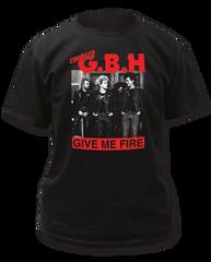 G.B.H. Give Me Fire Black Short Sleeve Adult T-shirt
