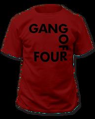 Gang of Four Logo Cardinal Short Sleeve Adult T-shirt