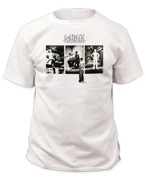 Genesis Down On Broadway White Short Sleeve Adult T-shirt