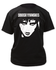 Siouxsie and the Banshees Face Black Short Sleeve Adult T-shirt