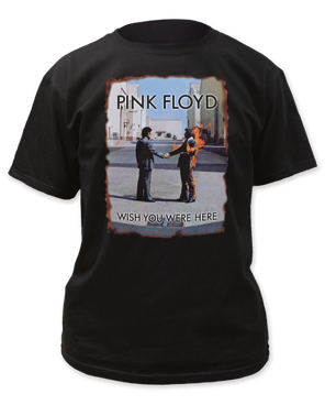 Pink Floyd Wish You Were Here Burnt Edges Black Short Sleeve Adult T-shirt