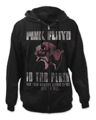 Pink Floyd In The Flesh Black Adult Zipper Hoodie