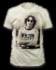 John Lennon New York City White Short Sleeve Adult T-shirt