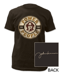 John Lennon Power to the People Black Short Sleeve Adult T-shirt