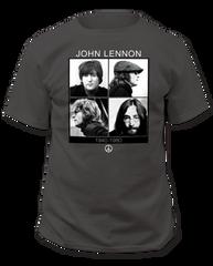 John Lennon 1940 - 1980 Black Short Sleeve Adult T-shirt