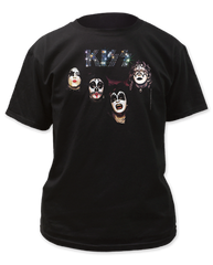 KISS Self Titled Album Black Short Sleeve Adult T-shirt