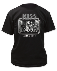 KISS Alive '75 Black Short Sleeve Adult T-shirt