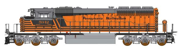 Intermountain Railway Ho Scale Pennsylvania Northeastern SD40-2W DCC W/Sound & Ditchlights