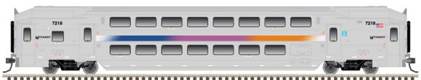 Atlas Ho Scale NJ Transit Multi-Level Cab Car & Trailer 3 Pack
