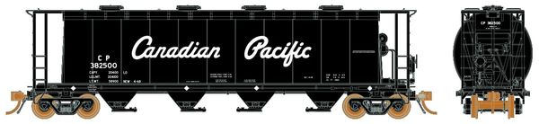 Rapido Ho Scale 3800 . Ft. Cylindrical hopper CP Script 6 pack