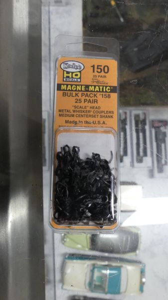"Ho Scale Kadee #150 Scale Head ""Whisker"" Coupler (25) Pair"