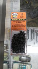 "Ho Scale Kadee #14 Standard Head ""Whisker"" Coupler (25) Pair"