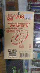 Kadee #208 Red Insulating Fiber Washers (.015 Thickness)