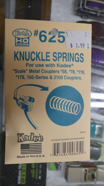 HO Scale Kadee #625 Replacement Knuckle Spring for Scale Head Couplers