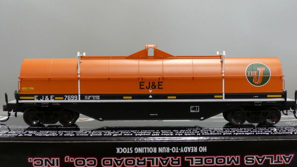 Atlas Ho Scale 42' Coil Steel Cars Elgin Joliet & Eastern