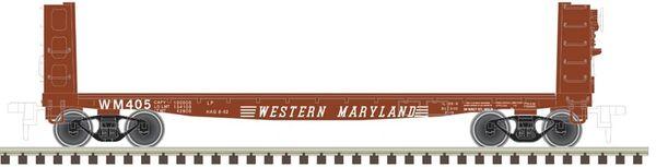 Atlas HO Pulpwood Flatcar Western Maryland *Pre-order*